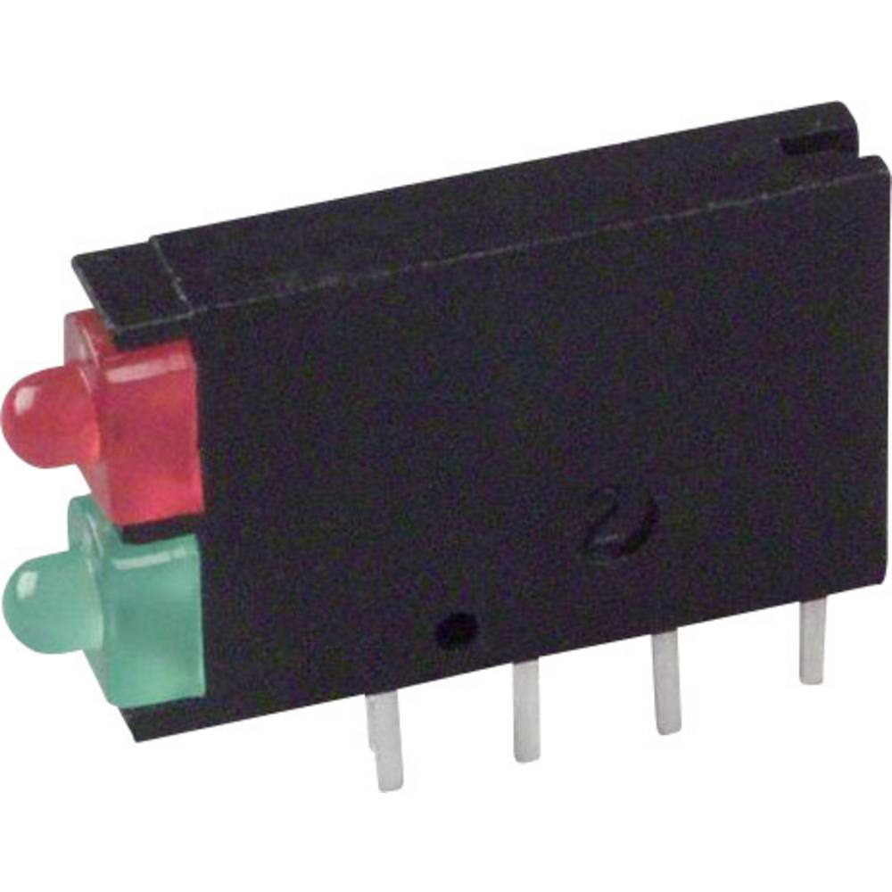 LED-Baustein (value.1317427) Dialight (L x B x H) 15.24 x 11.6 x 2.5 mm Grøn, Rød