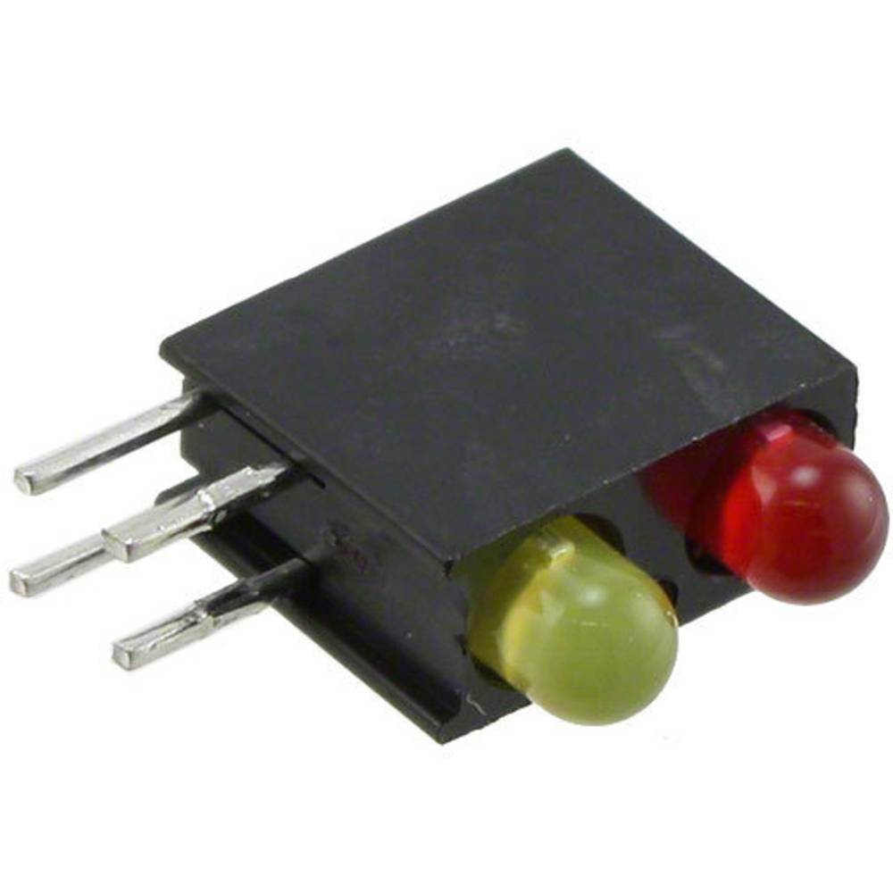 LED-Baustein (value.1317427) Dialight (L x B x H) 13.33 x 10.73 x 4.32 mm Rød, Gul