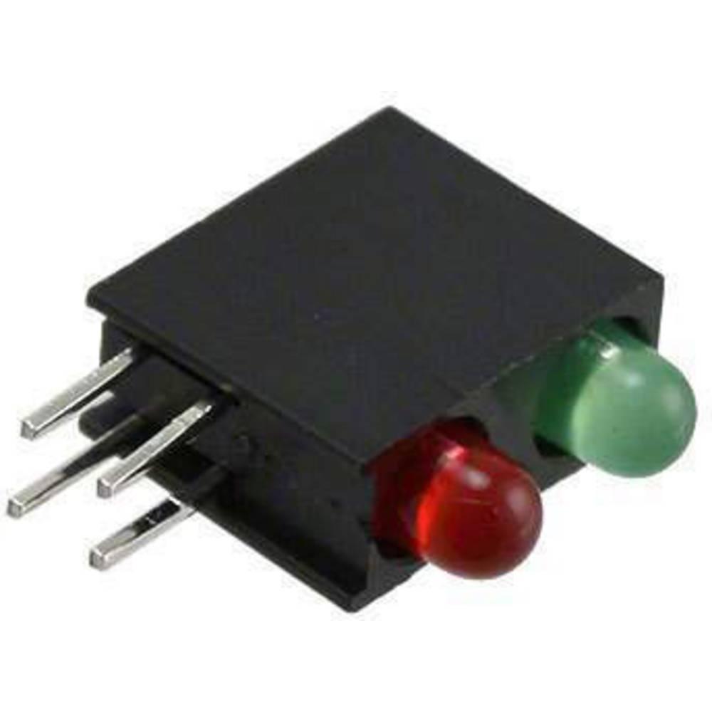LED-komponent Dialight (L x B x H) 13.33 x 11 x 4.32 mm Grøn, Rød