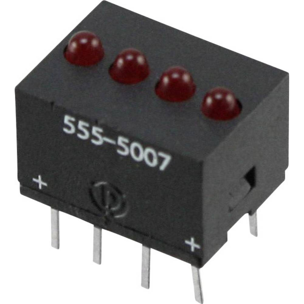 LED-Reihe (value.1317426) Dialight (L x B x H) 10.29 x 10.17 x 7.77 mm Rød