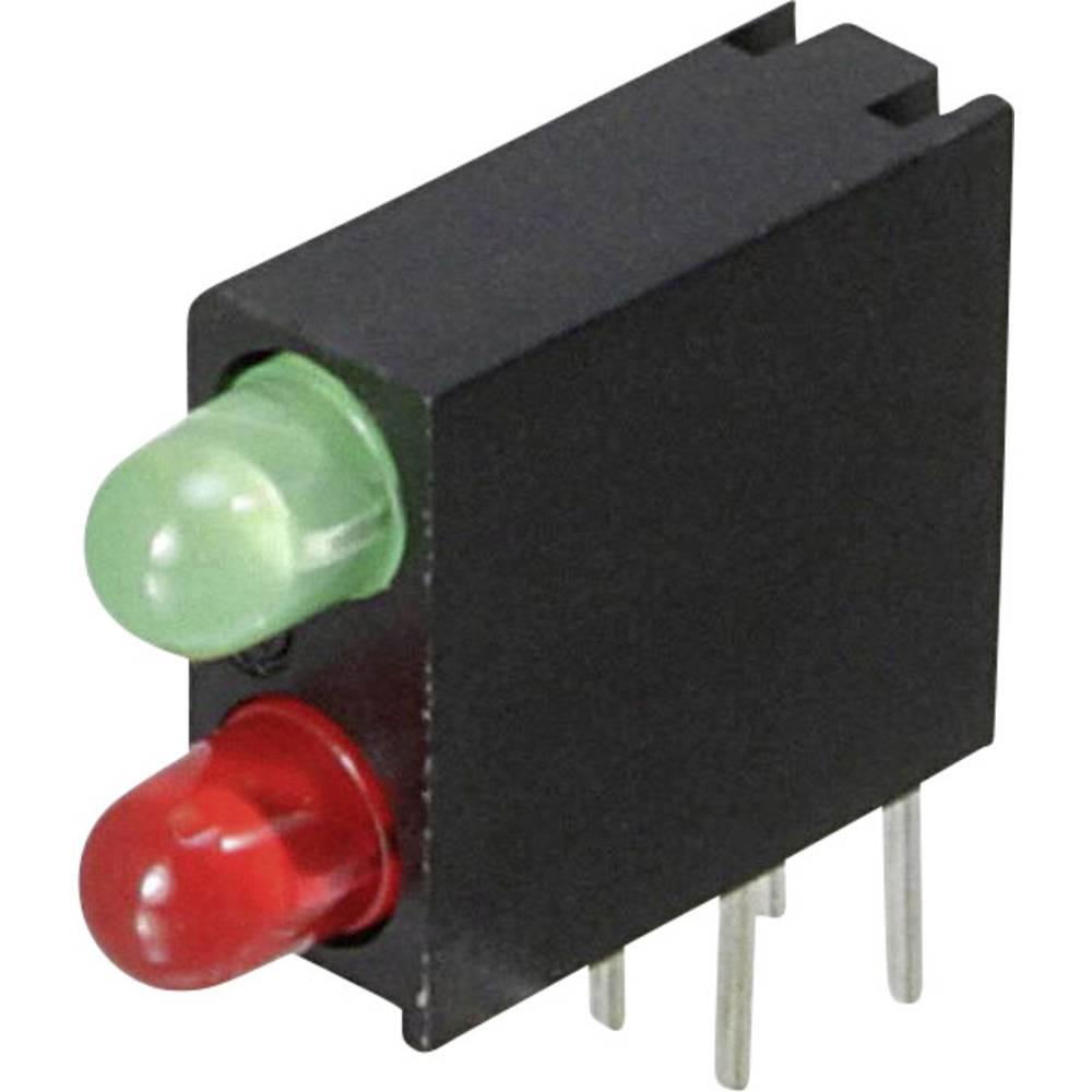LED-komponent Dialight 553-0121-200F (L x B x H) 14.06 x 13.33 x 4.32 mm Grøn, Rød