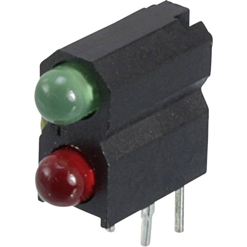 LED-Baustein (value.1317427) Dialight (L x B x H) 13.33 x 11.18 x 4.95 mm Grøn, Rød