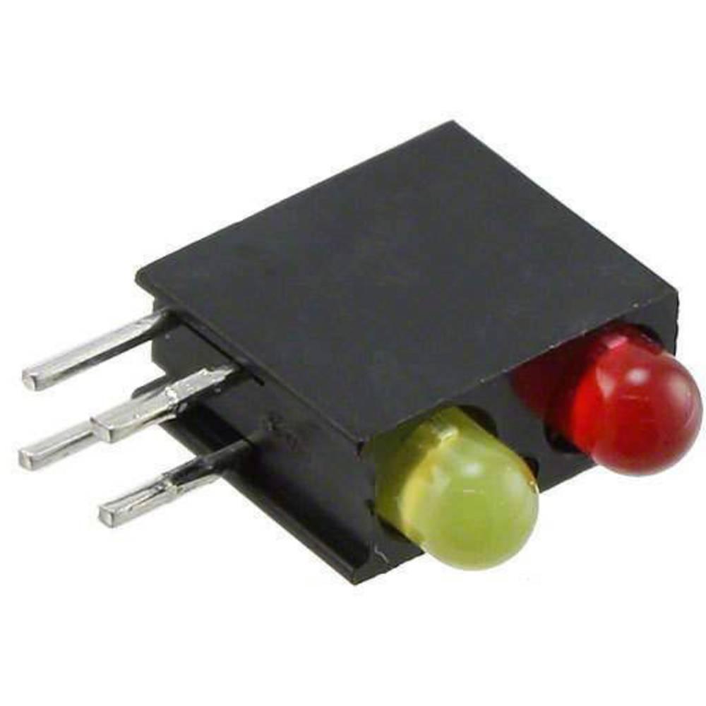 LED-Baustein (value.1317427) Dialight (L x B x H) 13.33 x 11 x 4.32 mm Rød, Gul