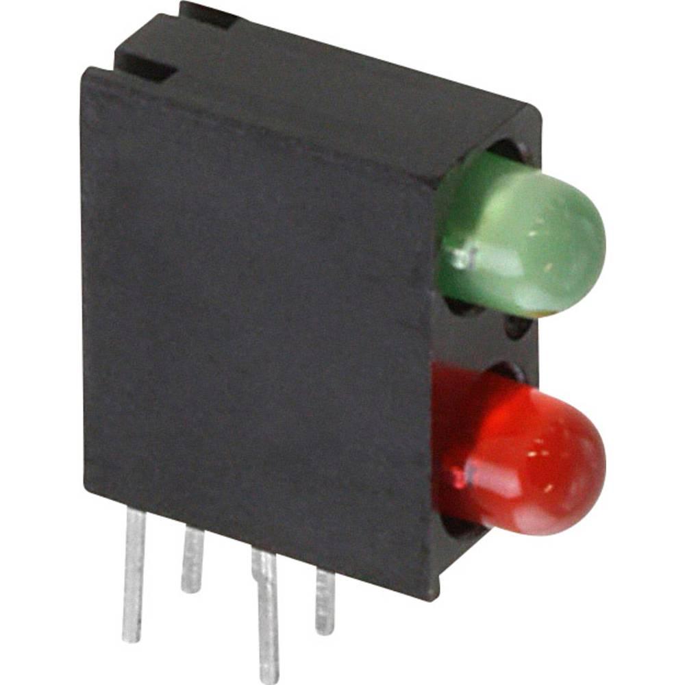 LED-Baustein (value.1317427) Dialight (L x B x H) 13.33 x 11 x 4.32 mm Grøn, Rød