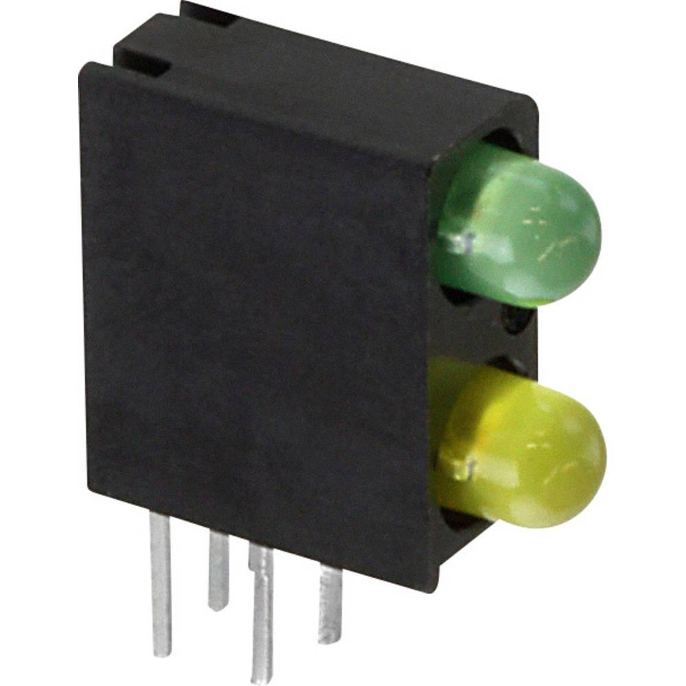 LED-komponent Dialight (L x B x H) 13.33 x 11 x 4.32 mm Grøn, Gul