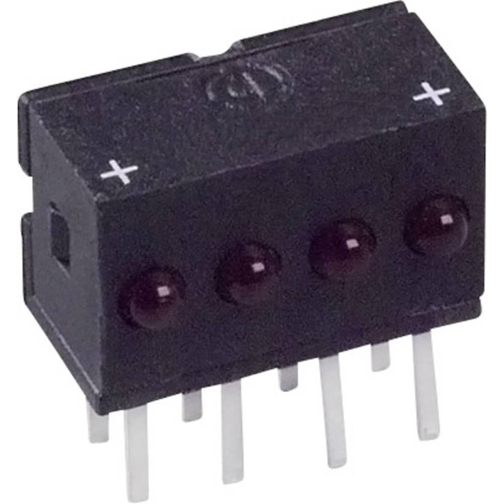 LED bånd Dialight (L x B x H) 10.29 x 10.03 x 6.22 mm Rød