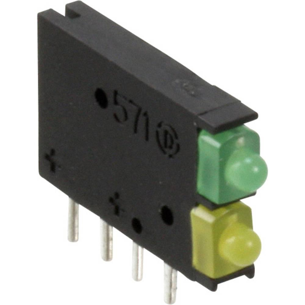 LED-Baustein (value.1317427) Dialight (L x B x H) 15.42 x 11.6 x 2.48 mm Grøn, Gul