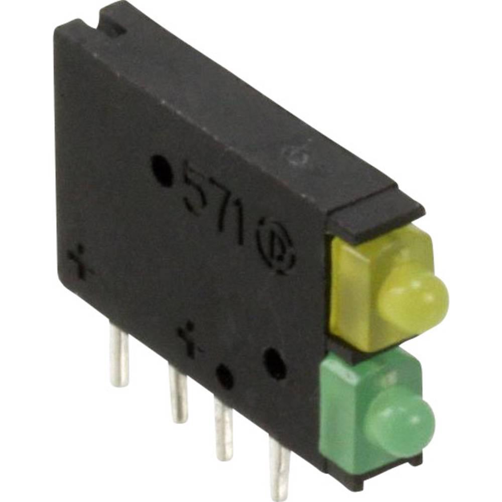 LED-Baustein (value.1317427) Dialight (L x B x H) 15.45 x 11.61 x 2.5 mm Grøn, Gul