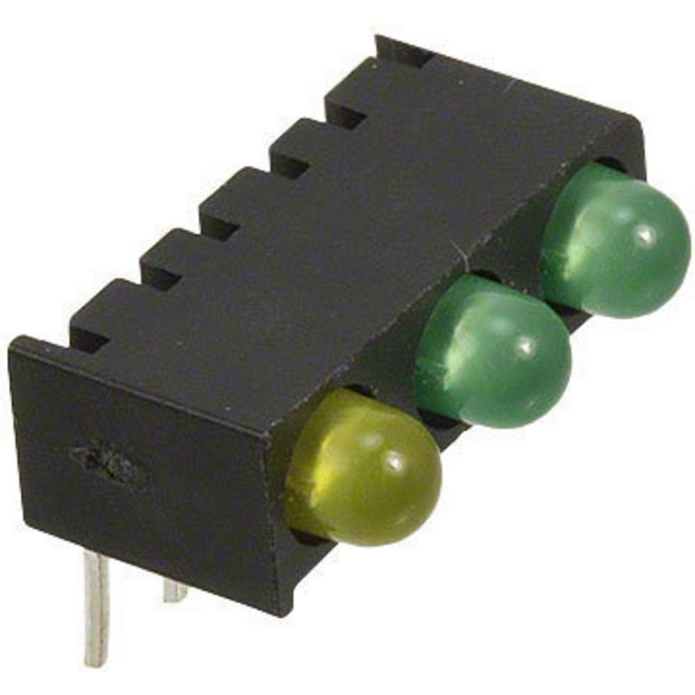 LED-Reihe (value.1317426) Dialight (L x B x H) 13.55 x 8.76 x 8.25 mm Grøn, Gul