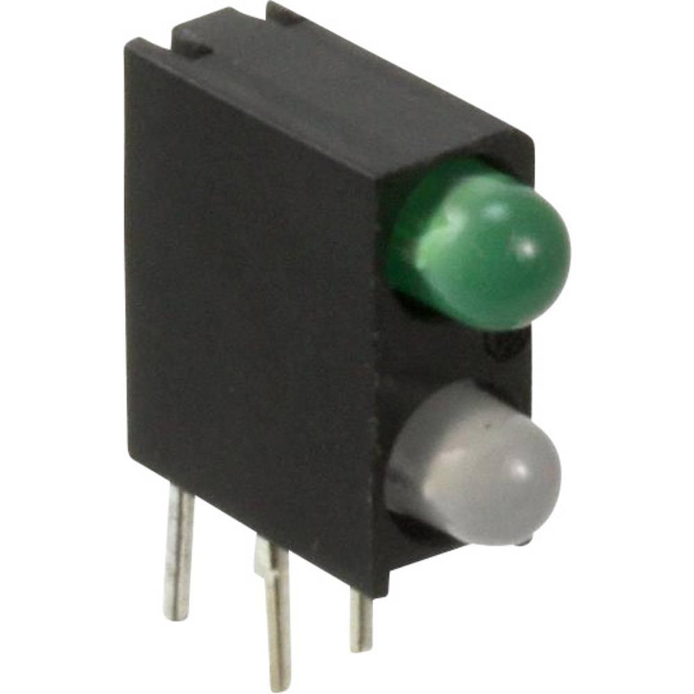 LED-komponent Dialight (L x B x H) 13.33 x 11 x 4.32 mm Blå , Grøn