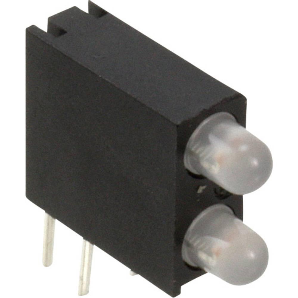LED-komponent Dialight (L x B x H) 14.06 x 13.33 x 4.32 mm Blå , Grøn, Rød