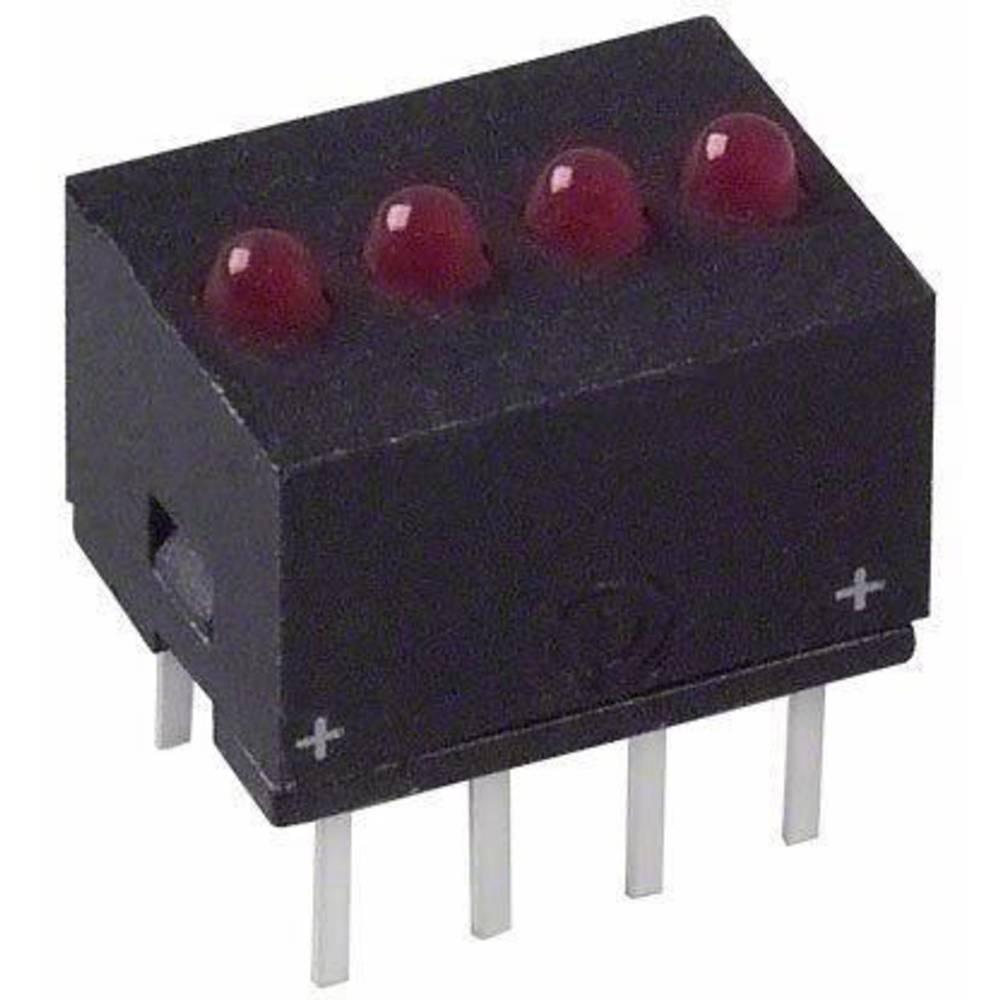 LED bånd Dialight (L x B x H) 10.29 x 10.17 x 7.77 mm Rød