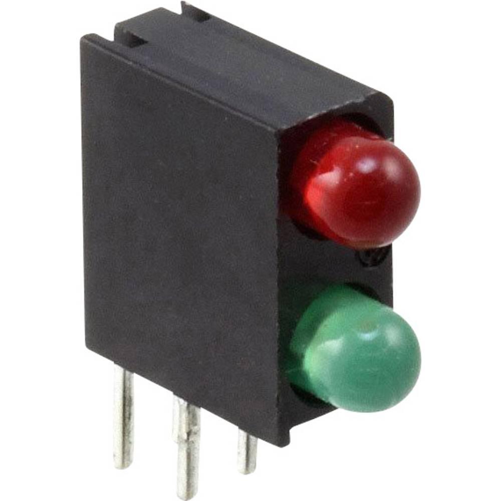 LED-Baustein (value.1317427) Dialight (L x B x H) 13.34 x 11 x 4.32 mm Grøn, Rød