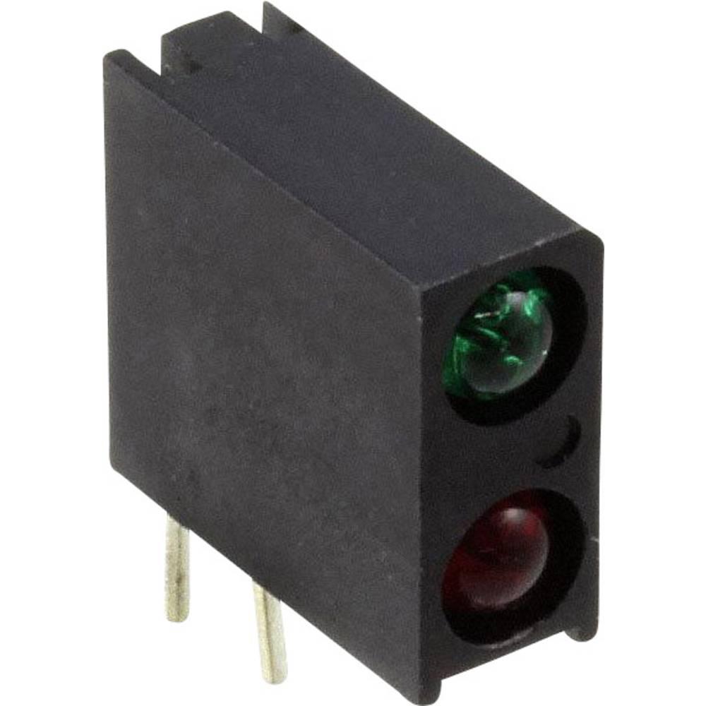 LED-komponent Dialight (L x B x H) 13.33 x 10.92 x 4.32 mm Grøn, Rød