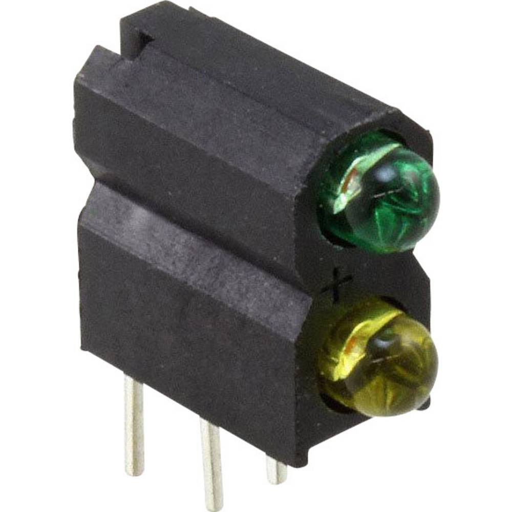LED-Baustein (value.1317427) Dialight (L x B x H) 13.33 x 10.91 x 4.95 mm Grøn, Gul