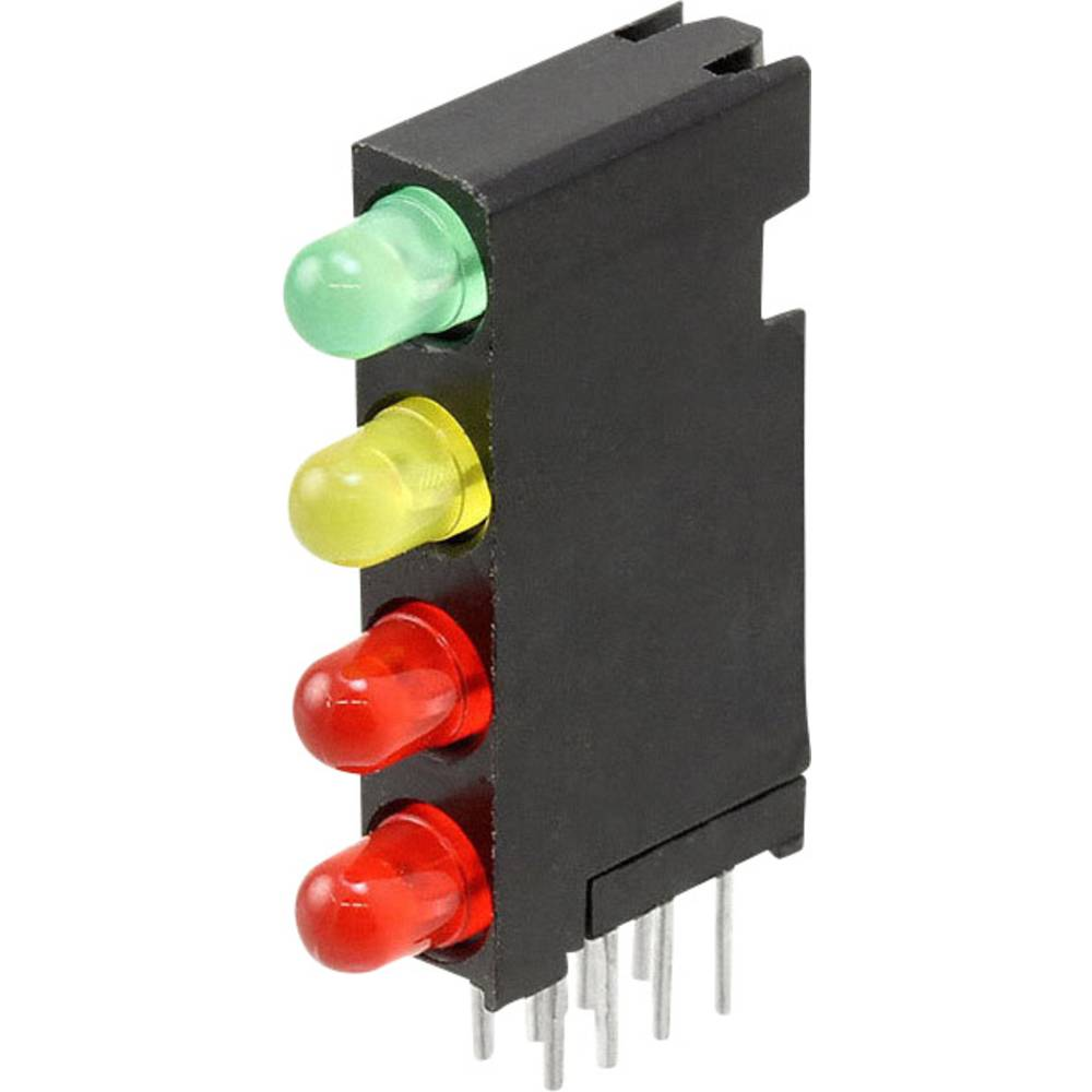 LED-Baustein (value.1317427) Dialight (L x B x H) 24 x 14.35 x 4.32 mm Grøn, Rød, Gul