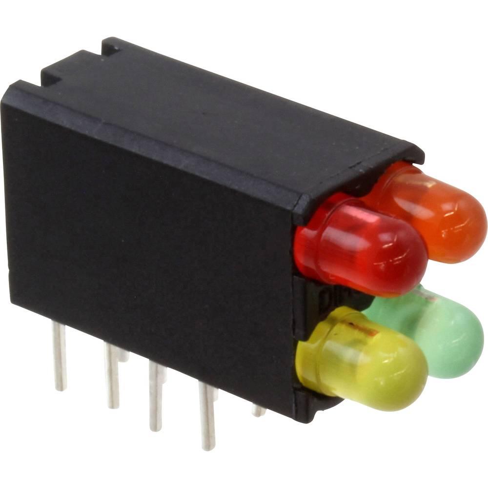 LED-komponent Dialight (L x B x H) 18.54 x 12.57 x 6.6 mm Rød, Gul, Orange, Grøn