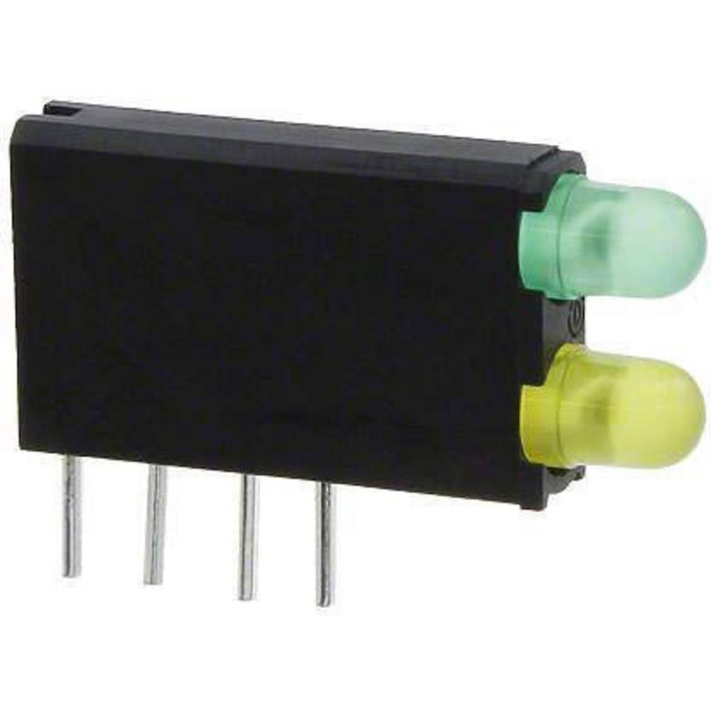 LED-komponent Dialight (L x B x H) 18.54 x 12.57 x 3.3 mm Grøn, Gul