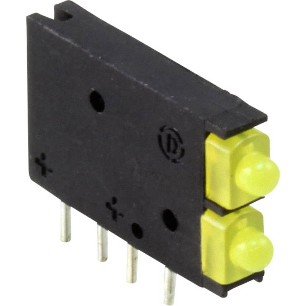 LED-Baustein (value.1317427) Dialight (L x B x H) 15.45 x 11.61 x 2.5 mm Gul