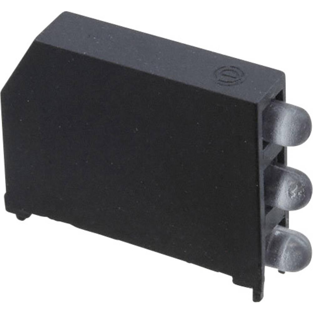 LED-komponent Dialight (L x B x H) 22.61 x 16.08 x 4.32 mm Grøn, Rød, Gul