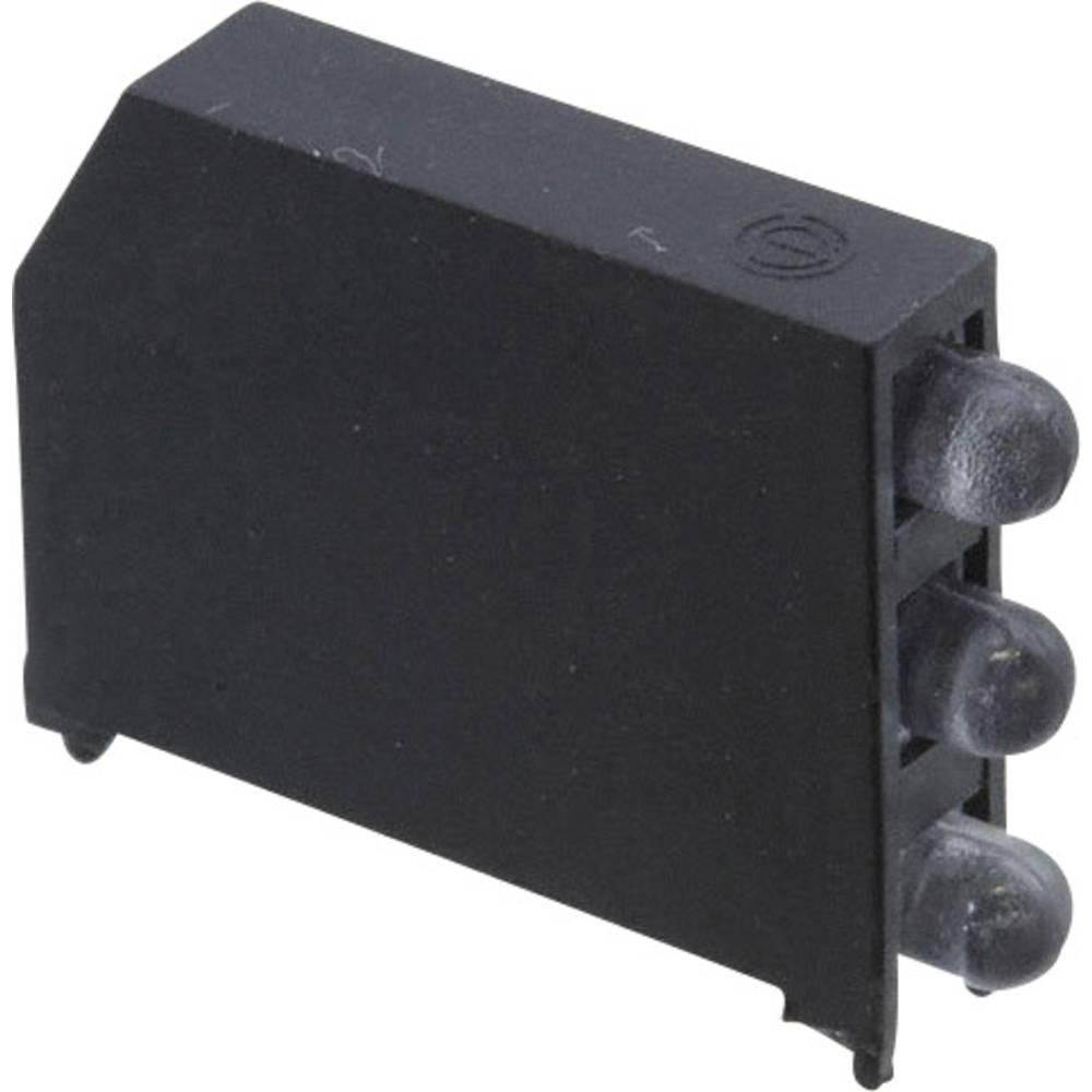 LED-komponent Dialight (L x B x H) 22.61 x 16.08 x 4.32 mm Grøn, Rød