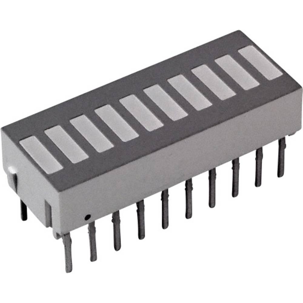 LED-Bargraph (value.1317424) Broadcom (L x B x H) 25.4 x 10.16 x 9.14 mm Grøn, Rød, Gul