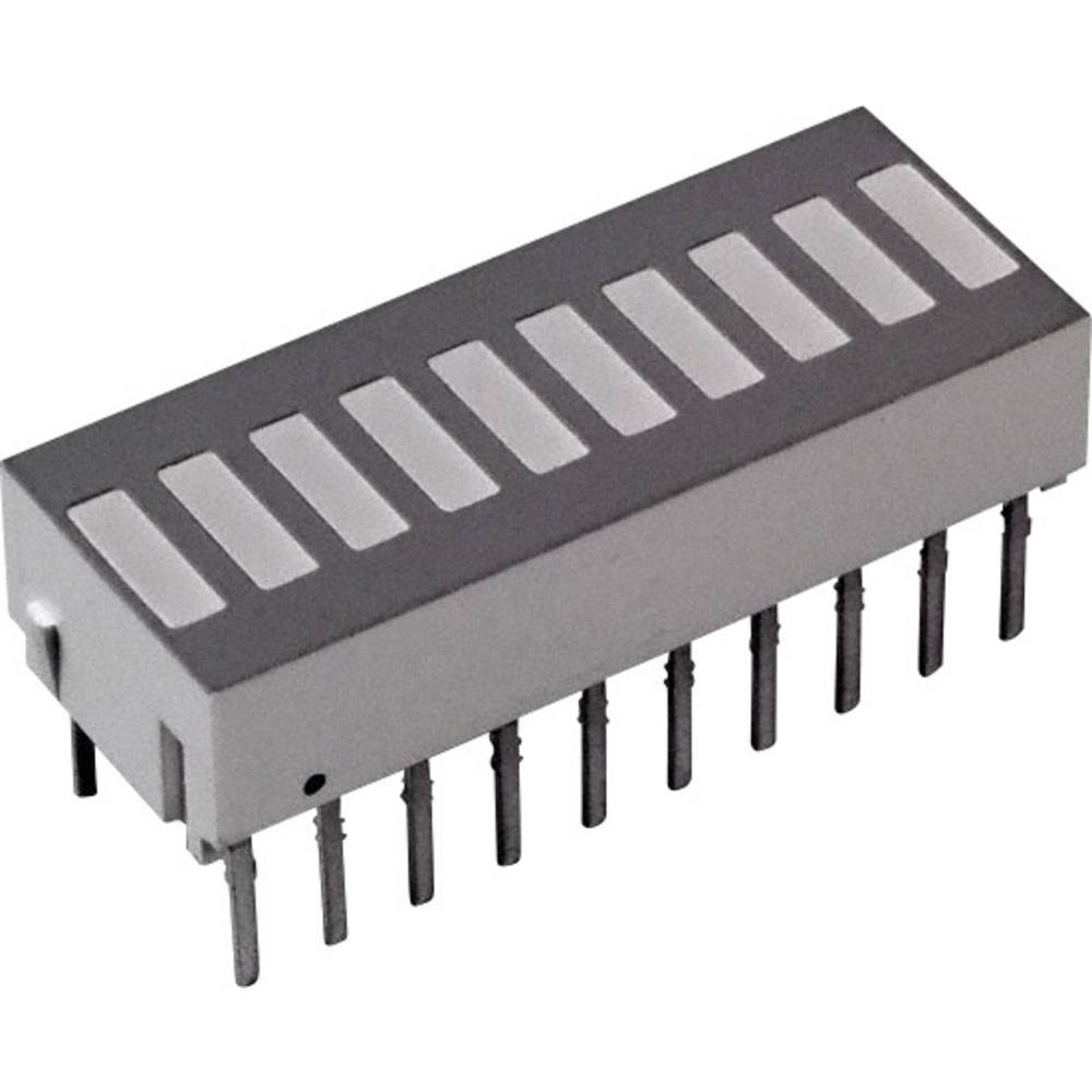 LED-Bargraph (value.1317424) Broadcom (L x B x H) 25.4 x 10.16 x 9.14 mm Rød