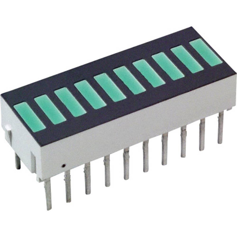 LED-søjlediagram Broadcom (L x B x H) 25.4 x 10.16 x 9.14 mm Grøn