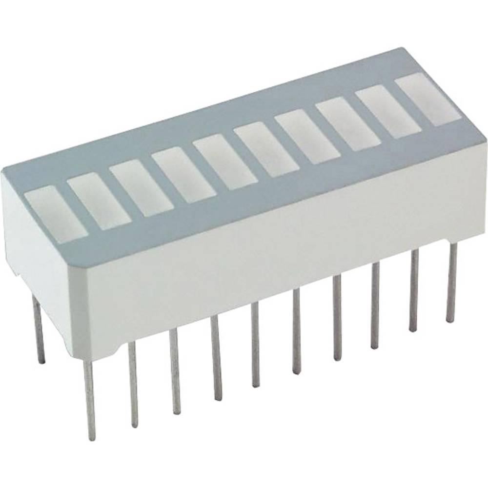 LED-Bargraph (value.1317424) LUMEX (L x B x H) 25.4 x 13.8 x 10.16 mm Rød