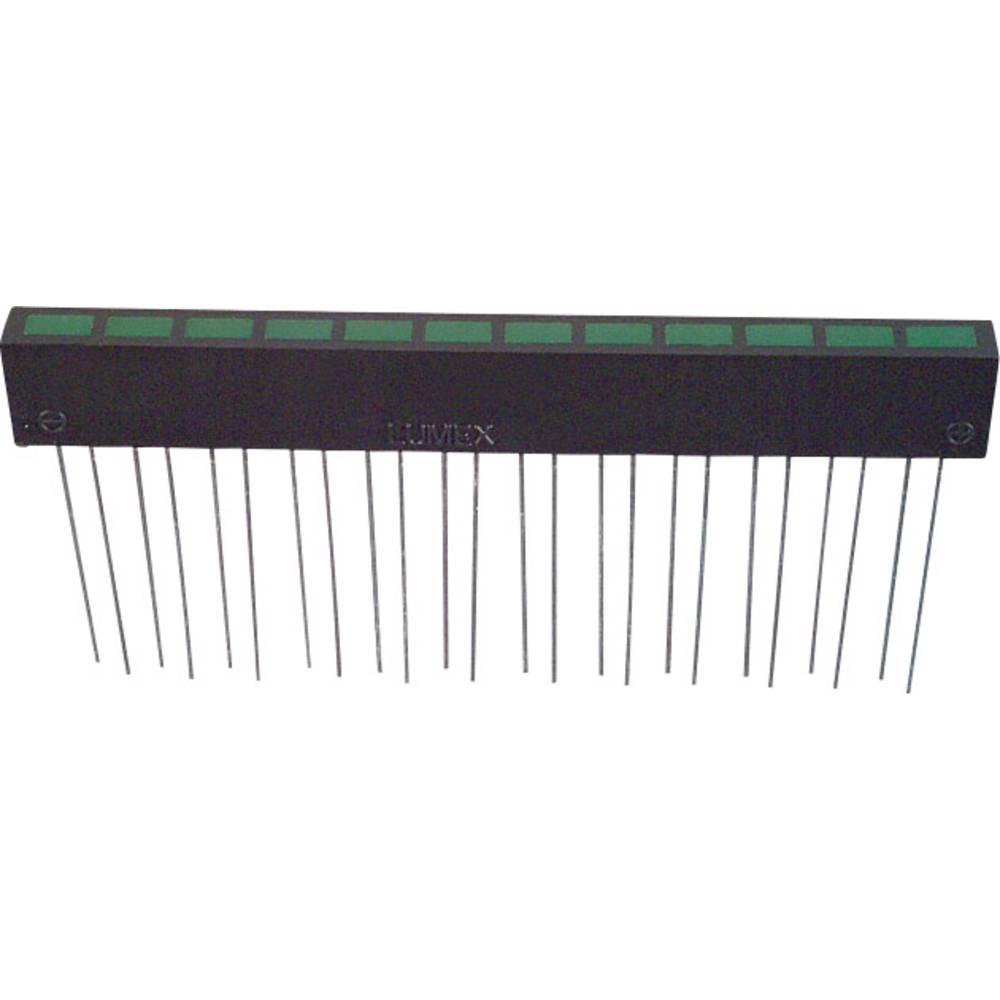 LED-Reihe (value.1317426) LUMEX (L x B x H) 74.5 x 10 x 5.08 mm Grøn