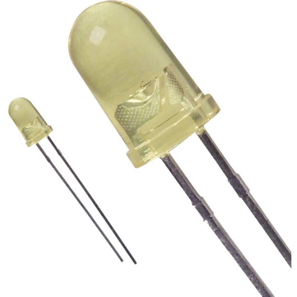 LED med ledninger Lite-On 5 mm 90 mcd 16 ° 20 mA 2.1 V Gul