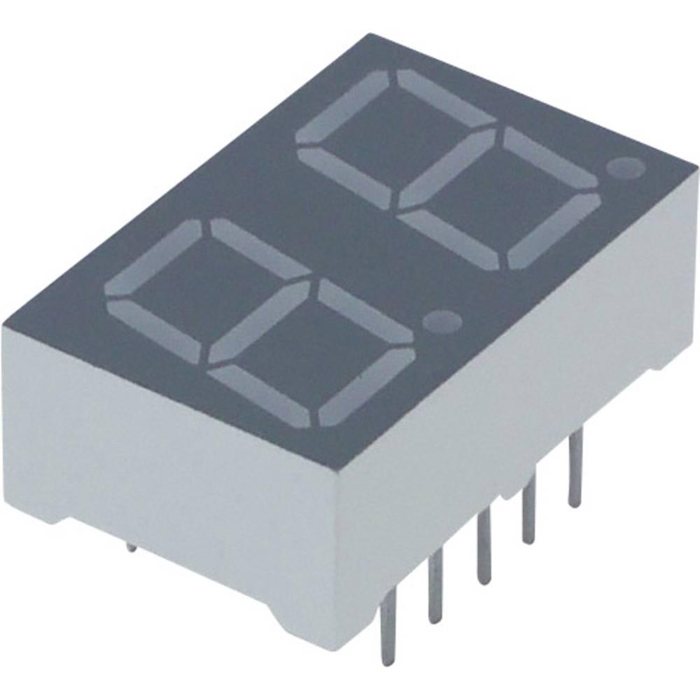 7-Segment-Anzeige (value.1317366) Lite-On 10 mm 2 V Rød