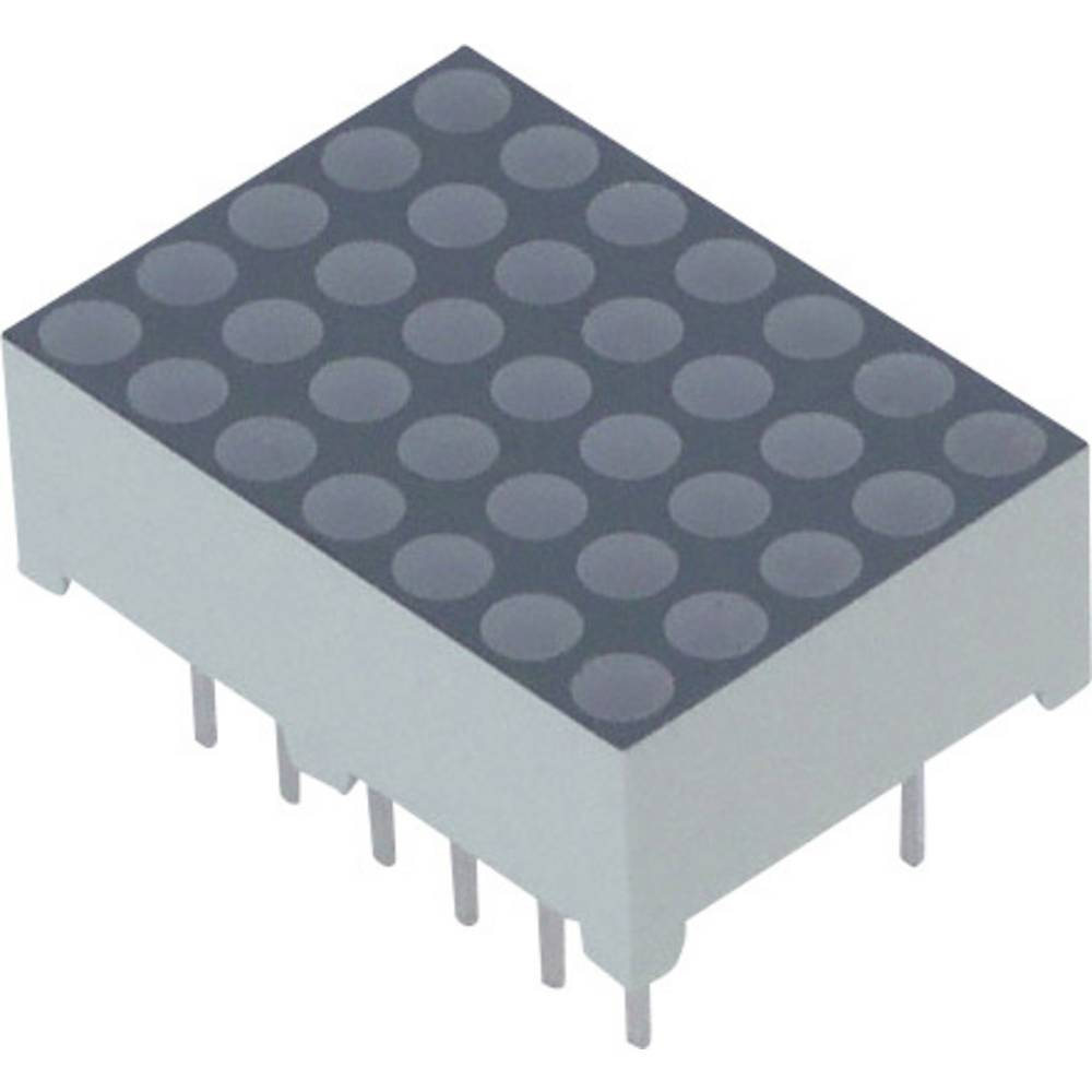 Punkt-Matrix-Anzeige (value.1317368) Lite-On 17.22 mm 2 V Rød