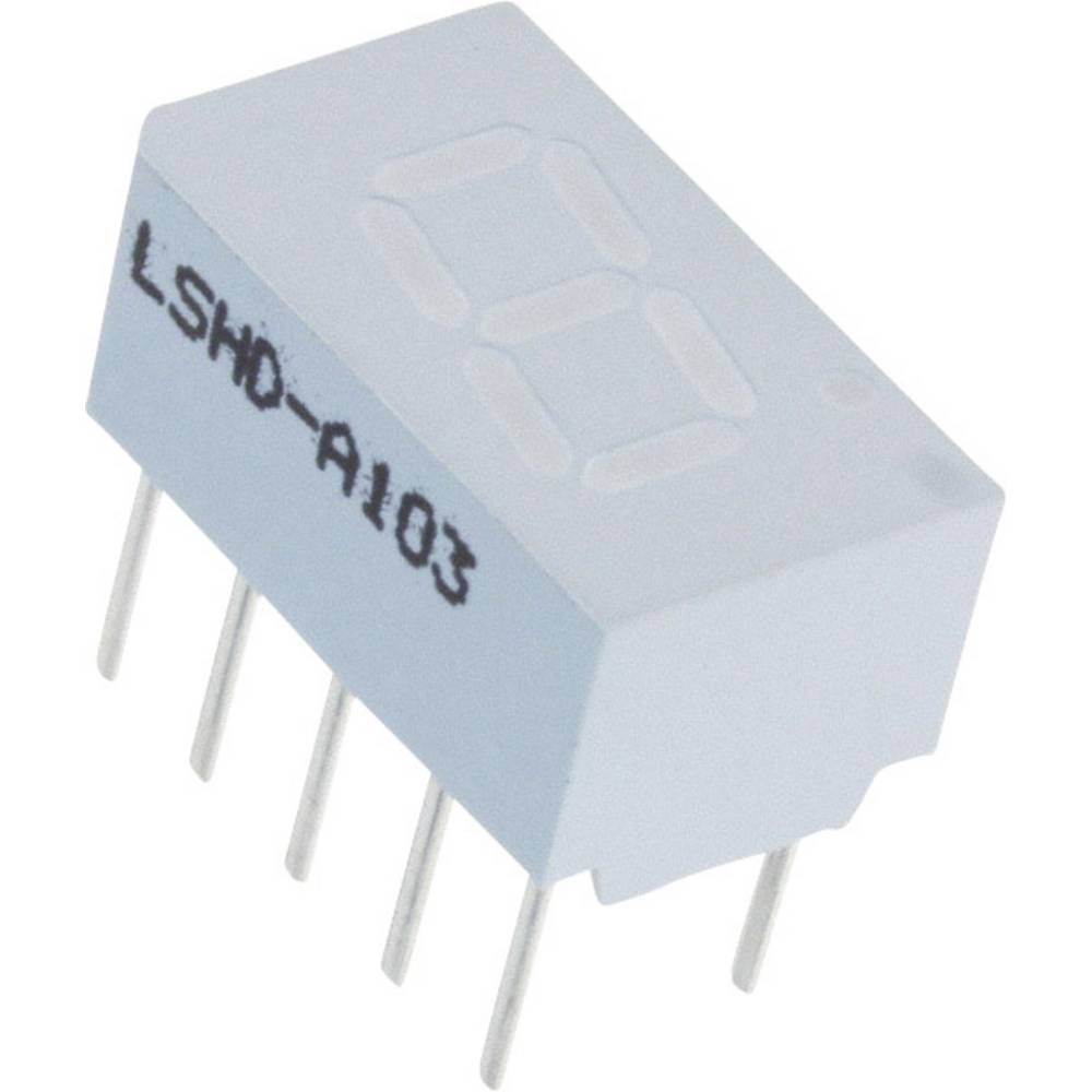 7-Segment-Anzeige (value.1317366) Lite-On 7.62 mm 2.1 V Rød