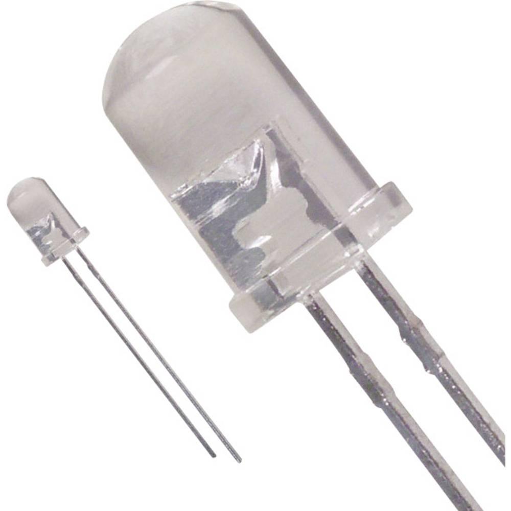 LED med ledninger Lite-On 5 mm 1.2 cd 30 ° 30 mA 3.5 V Blå