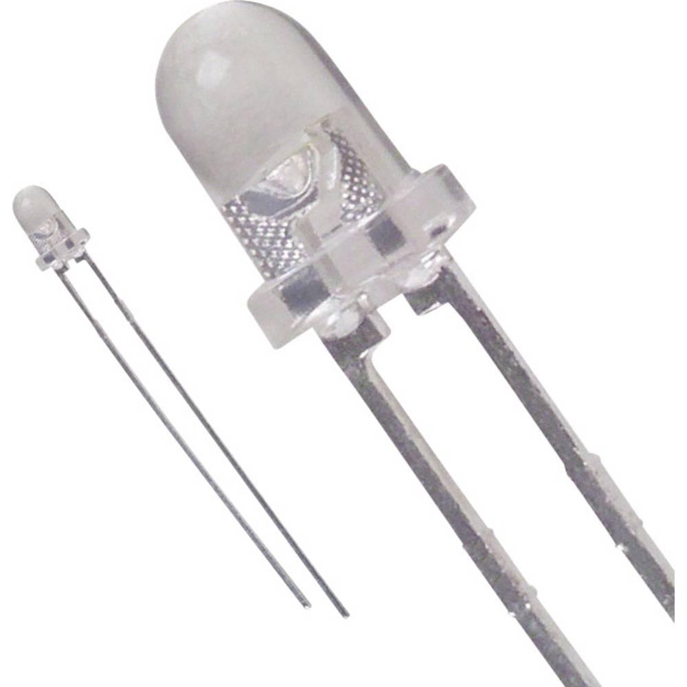 LED med ledninger Lite-On 3 mm 2.6 cd 25 ° 30 mA 3.6 V Hvid