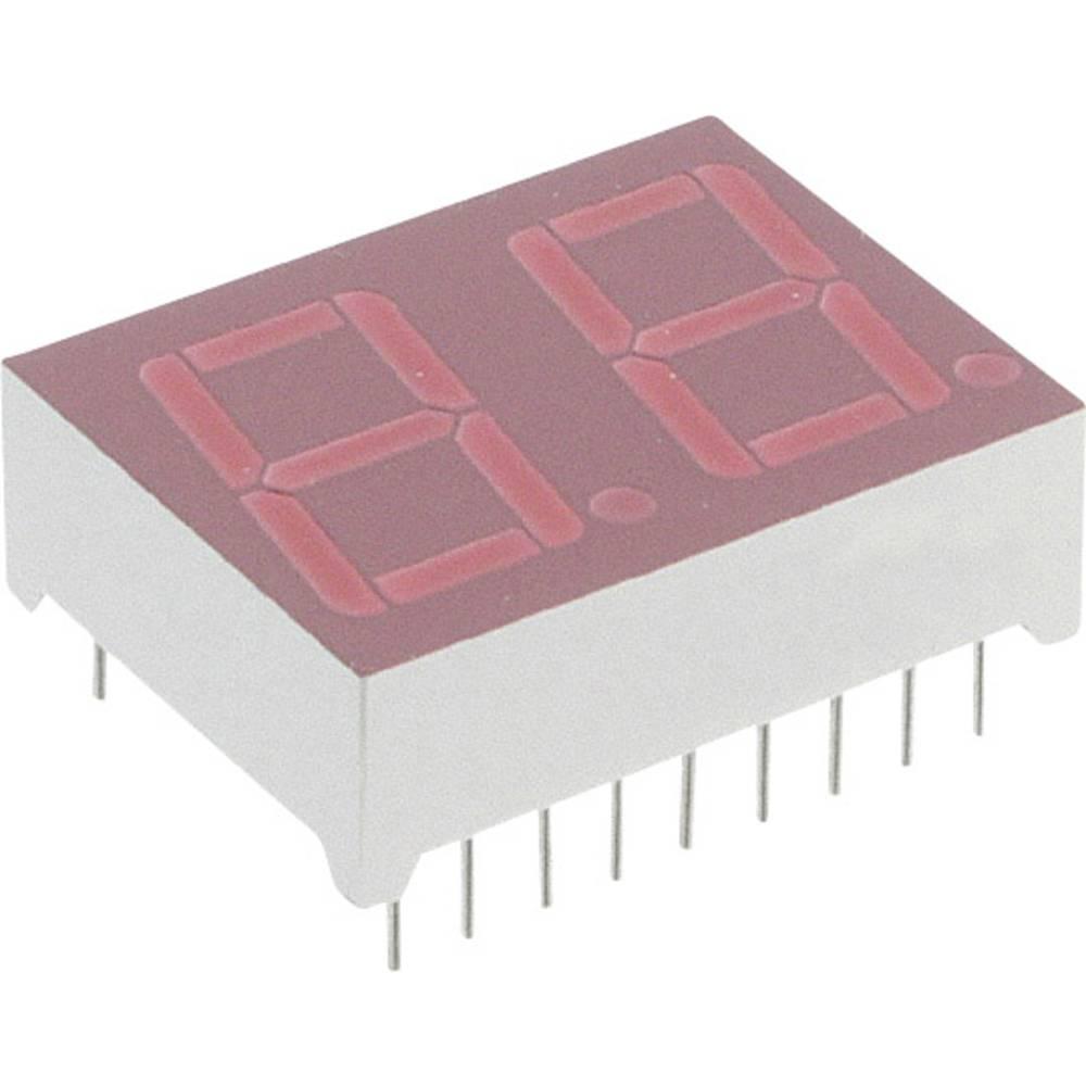 7-Segment-Anzeige (value.1317366) Lite-On 14.2 mm 2 V Rød