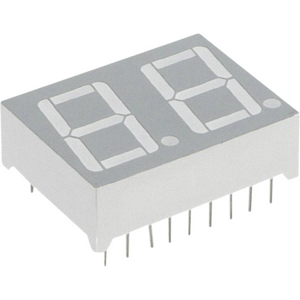 7-Segment-Anzeige (value.1317366) Lite-On 14.22 mm 2.1 V Grøn