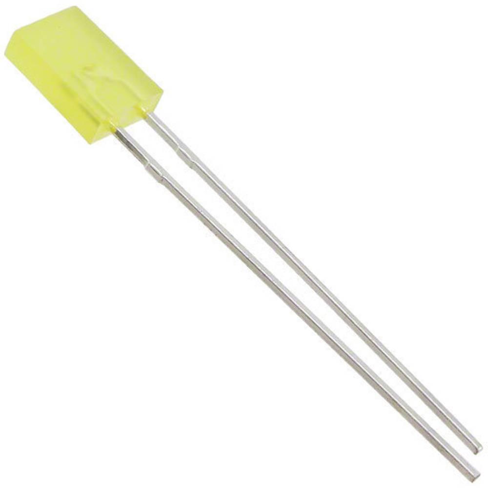 LED med ledninger Lite-On 2 x 5 mm 3.7 mcd 140 ° 20 mA 2.1 V Gul