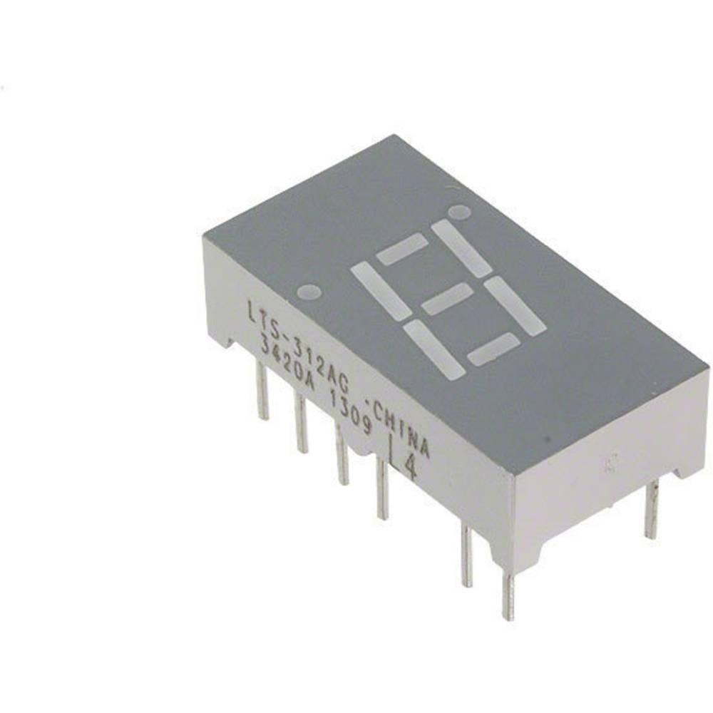 7-Segment-Anzeige (value.1317366) Lite-On 7.62 mm 2.1 V Grøn