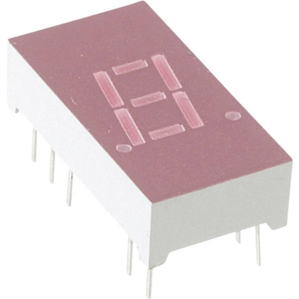 7-segmentsvisning Lite-On 7.62 mm 2 V Rød