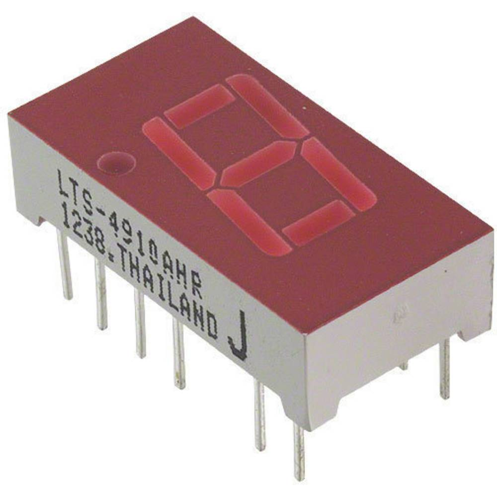 7-Segment-Anzeige (value.1317366) Lite-On 10.16 mm 2 V Rød