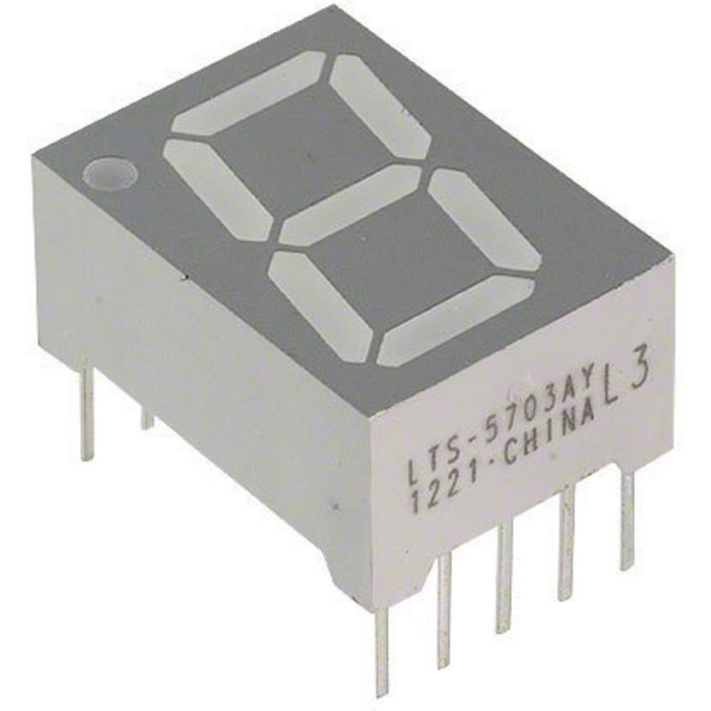7-Segment-Anzeige (value.1317366) Lite-On LTS-5703AY 14.22 mm 2.1 V Gul