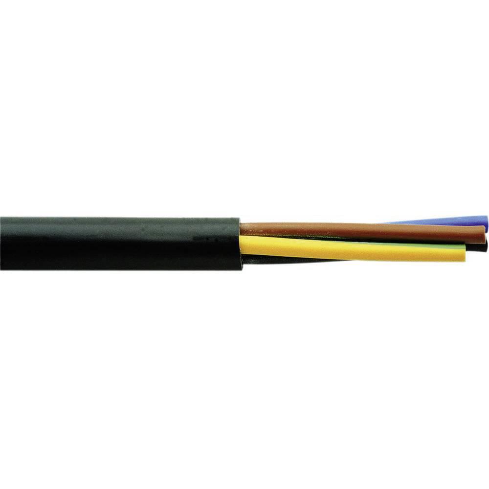 Gumirani vodnik H03VV-F 3 G 0.75 mm črne barve Faber Kabel 030006 100 m