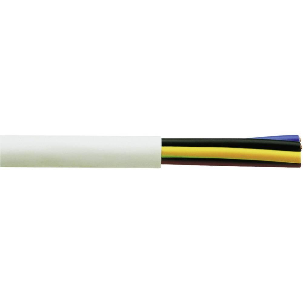 Gumirani vodnik H05VV-F 5 G 2.5 mm bele barve Faber Kabel 030031 50 m