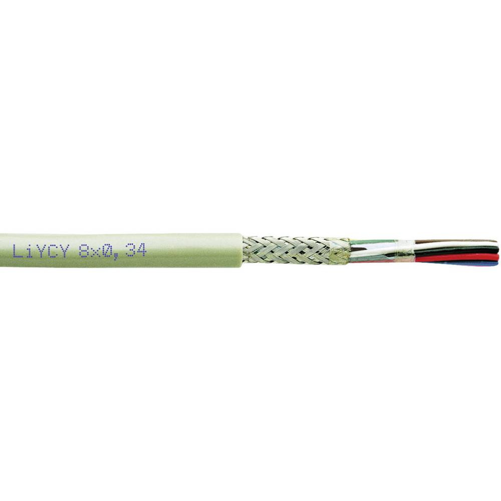 Krmilni kabel LiYCY 8 x 0.34 mm sive barve Faber Kabel 030310 meterski