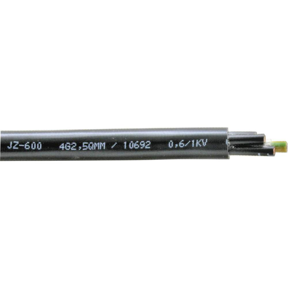 Krmilni kabel YSLY-JZ 600 3 x 2.5 mm črne barve Faber Kabel 033665 meterski