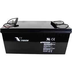 Vision Akkus FM-Serie 6FM200PX Solarni akumulator 12 V 200 Ah Svinčevo-koprenast (Š x V x G) 526 x 246 x 238 mm M10-vijačni prik