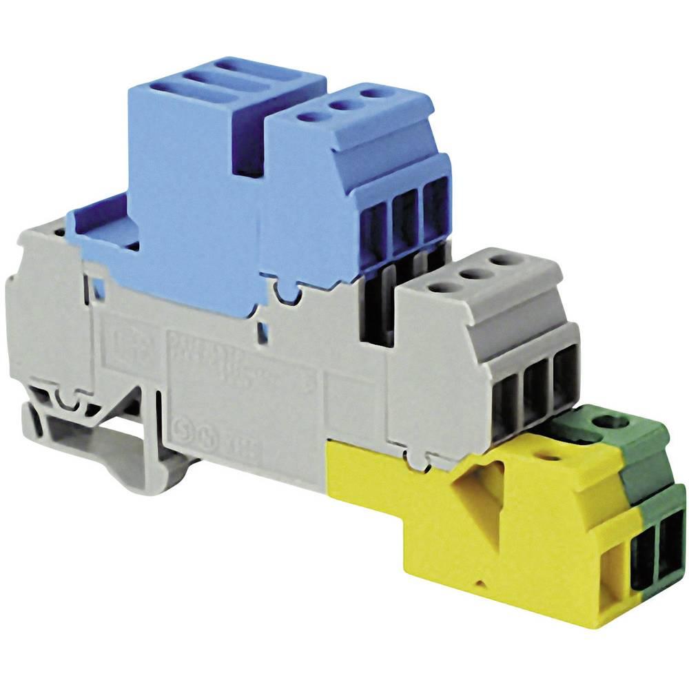 installations-etageklemme 17.8 mm Skruer Belægning: Terre, N, L Grå, Blå , Grøn-gul ABB 1SNA 110 327 R2100 1 stk