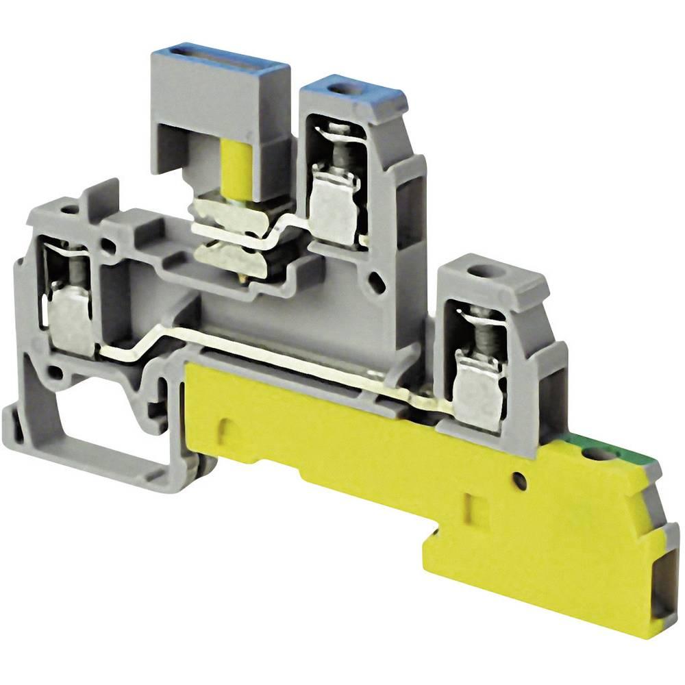Namestitvena sponka 6 mm, vijačna namestitev: PE, N, L sive barve ABB 1SNA 110 439 R2200 1 kos